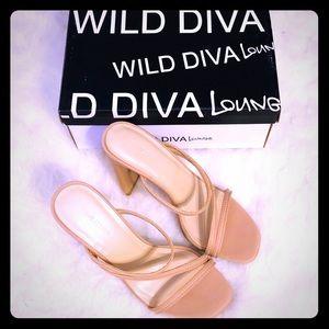 NEW Ferrara Nude High Heel Sandals from Wild Diva